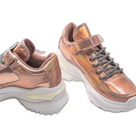 Różowe sneakersy holograficzne lollypop 4