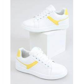 Trampki damskie białe 999-52 Yellow żółte 1