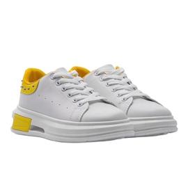 Biało żółte sneakersy damskie Taranto białe 1