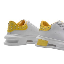 Biało żółte sneakersy damskie Taranto białe 4