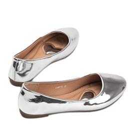 Srebrne metaliczne baleriny India srebrny 2