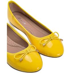 Żółte baleriny lakierowane Jaylynn 4