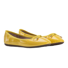 Żółte baleriny lakierowane Jaylynn 1