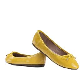 Żółte baleriny lakierowane Jaylynn 2