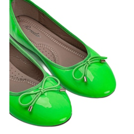 Zielone baleriny lakierowane Jaylynn 2