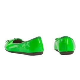 Zielone baleriny lakierowane Jaylynn 1