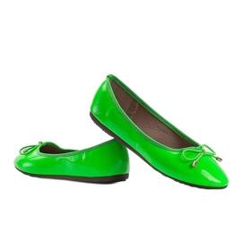 Zielone baleriny lakierowane Jaylynn 3