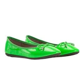 Zielone baleriny lakierowane Jaylynn 5