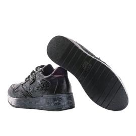 Czarne sneakersy na koturnie Ayanna 3