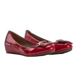 Czerwone lakierowane balerinki Lillie 1