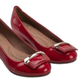 Czerwone lakierowane balerinki Lillie 2