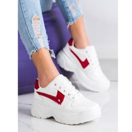 Kylie Sneakersy Na Platformie białe 5