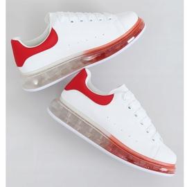 Trampki na podeszwie ombre N03 WHITE/RED białe czerwone 1