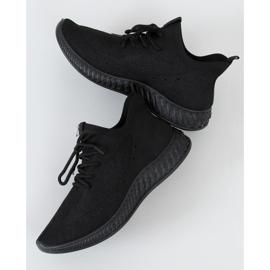 Buty sportowe skarpetkowe czarne PC01 All Black 1