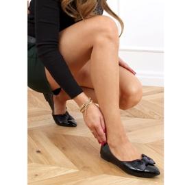 Baleriny damskie lakierowane czarne 98-37 Black 2