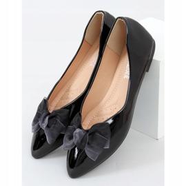 Baleriny damskie lakierowane czarne 98-37 Black 1