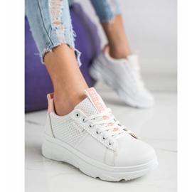 SHELOVET Sneakersy Na Białej Platformie Nice 2