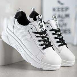 SHELOVET Sneakersy Na Białej Platformie Nice 3