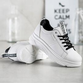 SHELOVET Sneakersy Na Białej Platformie Nice 4