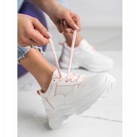 SHELOVET Wygodne Białe Sneakersy 1