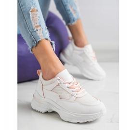 SHELOVET Wygodne Białe Sneakersy 4