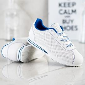 SHELOVET Ażurowe Sneakersy Super białe 3