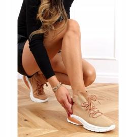 Buty sportowe za kostkę karmelowe JH-25 Camel brązowe 2