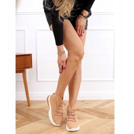 Buty sportowe za kostkę karmelowe JH-25 Camel brązowe 3