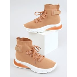 Buty sportowe za kostkę karmelowe JH-25 Camel brązowe 1