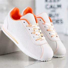 SHELOVET Ażurowe Sneakersy Super białe 1