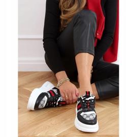 Designerskie buty sportowe czarne 205081 Black wielokolorowe 2