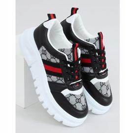 Designerskie buty sportowe czarne 205081 Black wielokolorowe 1