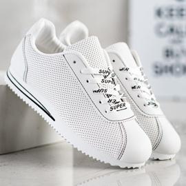 SHELOVET Ażurowe Sneakersy Super białe 2