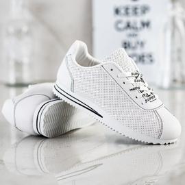 SHELOVET Ażurowe Sneakersy Super białe 4