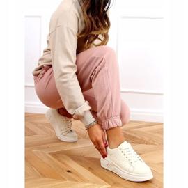 Buty na wysokiej podeszwie beżowe LA158 Beige beżowy 2