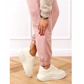 Buty na wysokiej podeszwie beżowe LA158 Beige beżowy 3