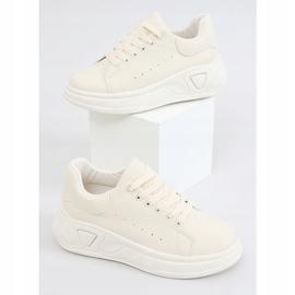 Buty na wysokiej podeszwie beżowe LA158 Beige beżowy 1