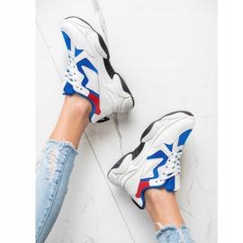 Fashion Wygodne Sneakersy białe wielokolorowe 1