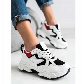 Fashion Wygodne Sneakersy białe wielokolorowe 2