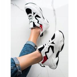 Fashion Wygodne Sneakersy białe wielokolorowe 3