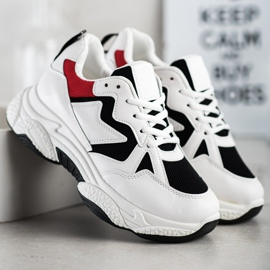 Fashion Wygodne Sneakersy białe wielokolorowe 4