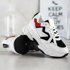 Fashion Wygodne Sneakersy białe wielokolorowe 5