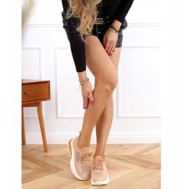 Buty sportowe skarpetkowe karmelowe JH-08 Camel brązowe 2