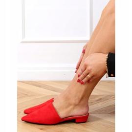 Klapki migdałowe noski czerwone MM-799 Red 3