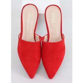 Klapki migdałowe noski czerwone MM-799 Red 1