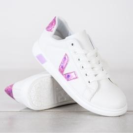 SHELOVET Wiosenne Buty Sportowe białe 4