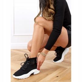 Buty sportowe za kostkę skarpetkowe czarne B0-676 Black 6