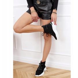 Buty sportowe za kostkę skarpetkowe czarne B0-676 Black 5