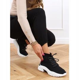 Buty sportowe za kostkę skarpetkowe czarne B0-676 Black 2