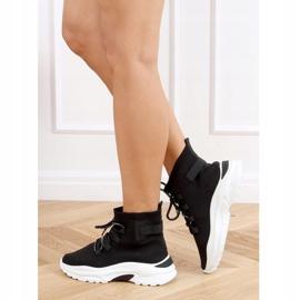 Buty sportowe za kostkę skarpetkowe czarne B0-676 Black 4